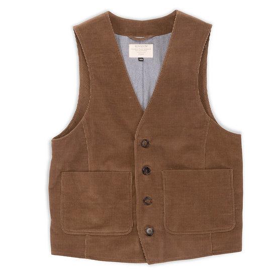Factory Vest. Brown Corduroy.