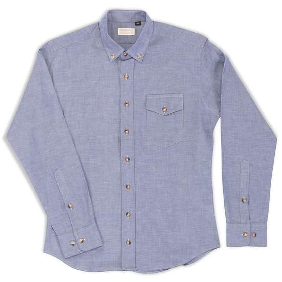 Rosedale.  Blue Chambray.