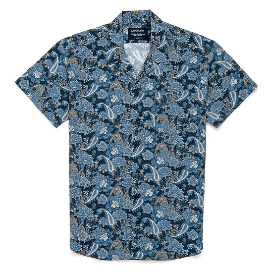 Hank.  Navy Floral and Paisley.