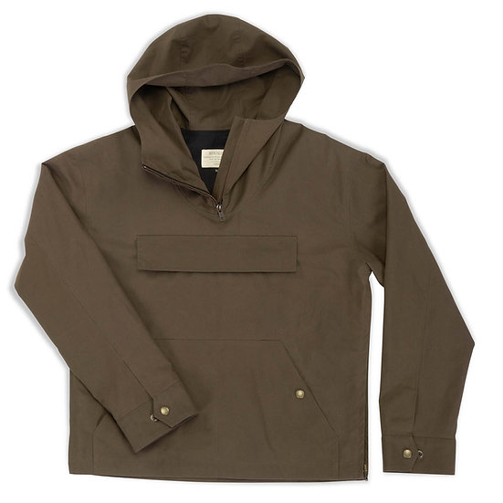 Simpson.  Waxed Cotton Anorak in Olive.