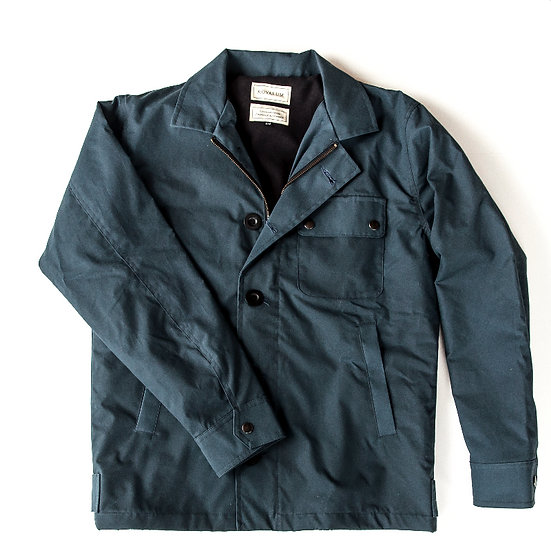 Sterling. Waxed Cotton Deck Jacket in Navy