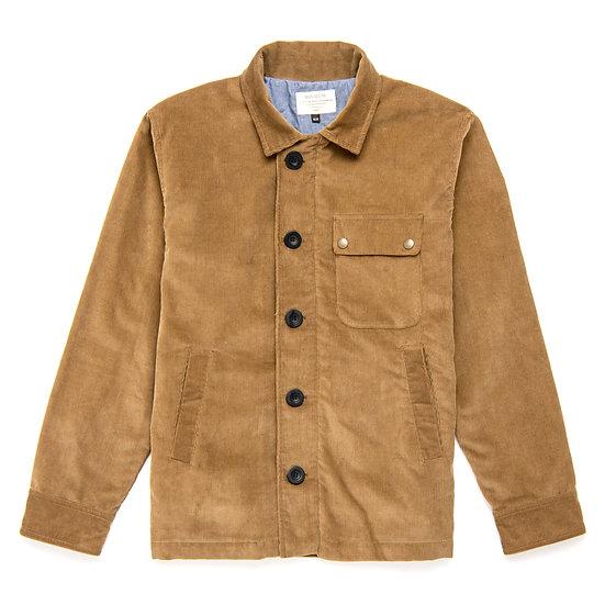 Canyon. Waxed Cotton Deck Jacket in Caramel Corduroy.