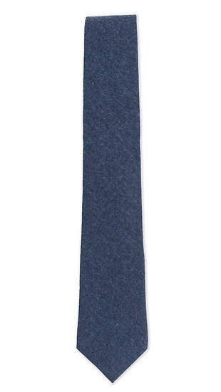 Navy Brushed Cotton Tie