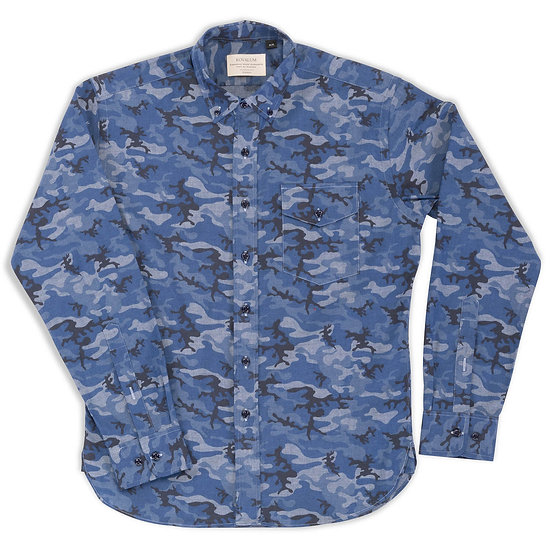 Bedford. Blue Chambray Camo.