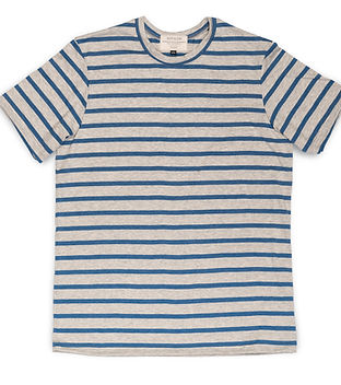 Grey and Blue Stripe Tee