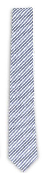 Blue and White Seersucker Tie.