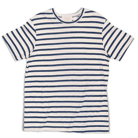 Breton Stripe T-Shirt. Faded Cotton.