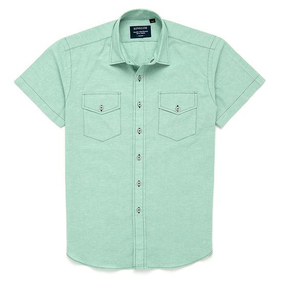 Jade.  Light green cotton and linen.