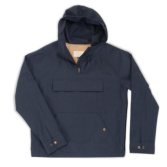 Hudson.  Anorak in Ripstop Cotton in Navy.