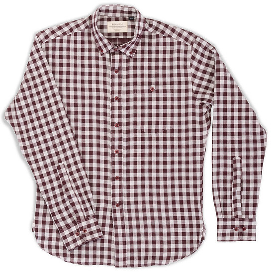 Brunswick.  Maroon and Grey Gingham.
