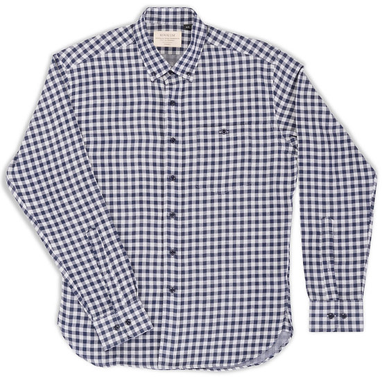 Henry.  Blue and Grey Gingham.