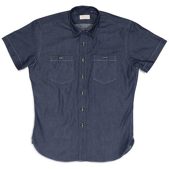 Five.  Navy denim with contrast stitch