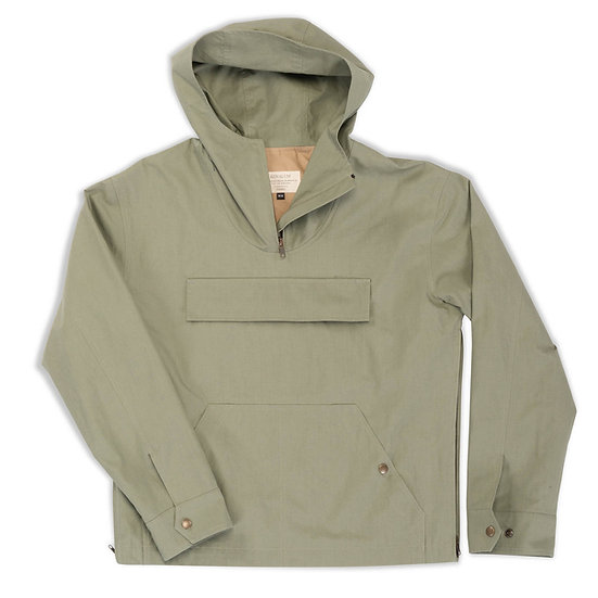 India.  Anorak in Ripstop Cotton in Olive.