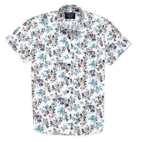 Emerson.  Blue and Brown Floral