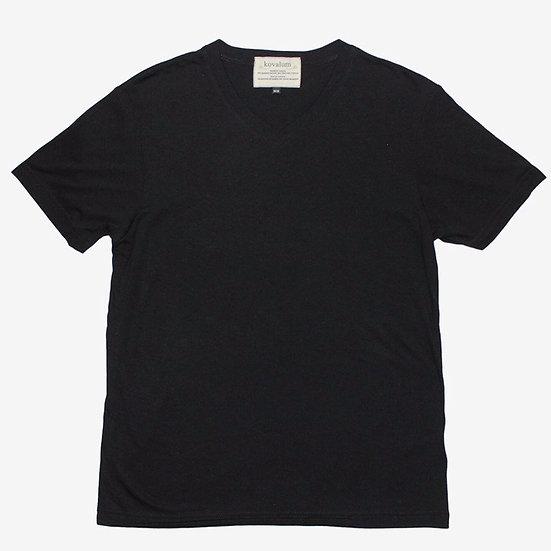 M1 T-Shirt.  Bamboo and Organic Cotton. Black. Crewneck.