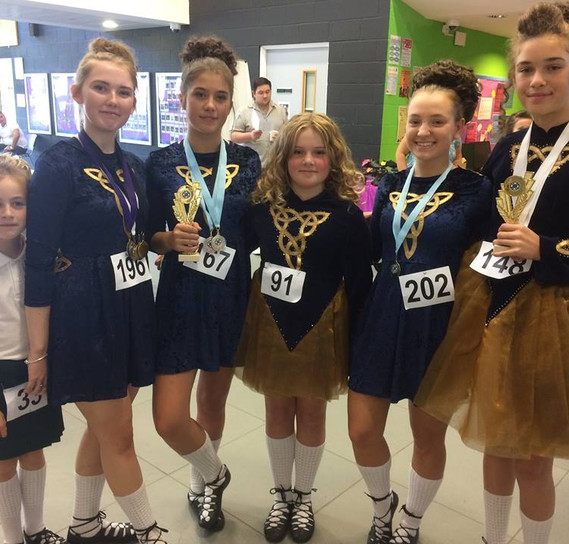 Our girls at Feis