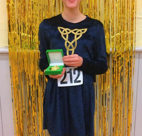 Josie winning medals