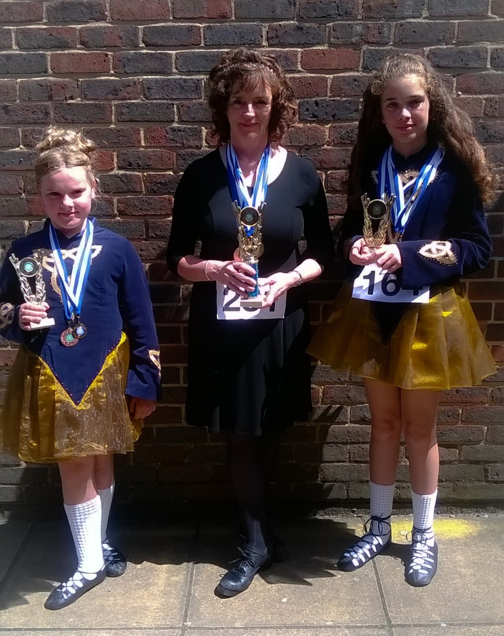 Our dancers with their medals