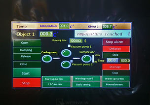 Pantalla de control para sistema de vacio