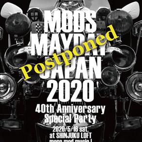【MODS MAYDAY JAPAN 2020】開催延期のお知らせ