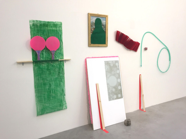 Megan Shaw, Uncut Tables (installation view) 2019. Mixed media, 208 x 234 x 35cm De/Constructing Perspectives, Structura Gallery, Sofia, Bulgaria.