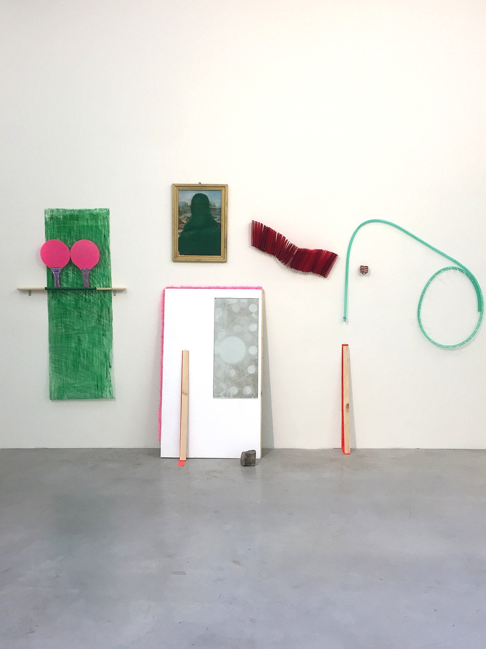 Megan Shaw, Uncut Tables (installation view) 2019. Mixed media, 208 x 234 x 35cm De/Constructing Perspectives, Structura Gallery, Sofia, Bulgaria.