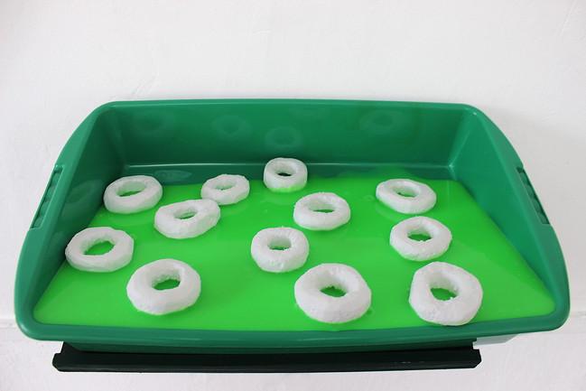 Megan Shaw, Assumed Composition (detail) 2019. Slime, plastic tub, polystyrene, wood and acrylic 26 x 45 x 25cm,  École Nationale Supérieure d'Art, Dijon, France