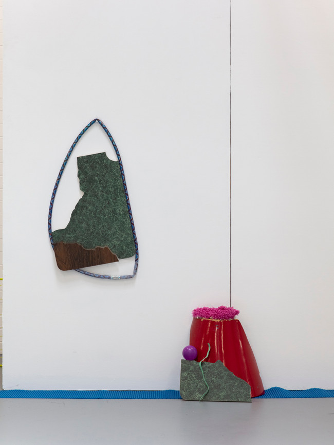 Megan Shaw,  Miscellaneous Goods (detail) 2018. Discarded objects and fabric, dimensions variable. Curtin Graduation Show, Curtin University, Western Australia. Photo credit Bo Wong
