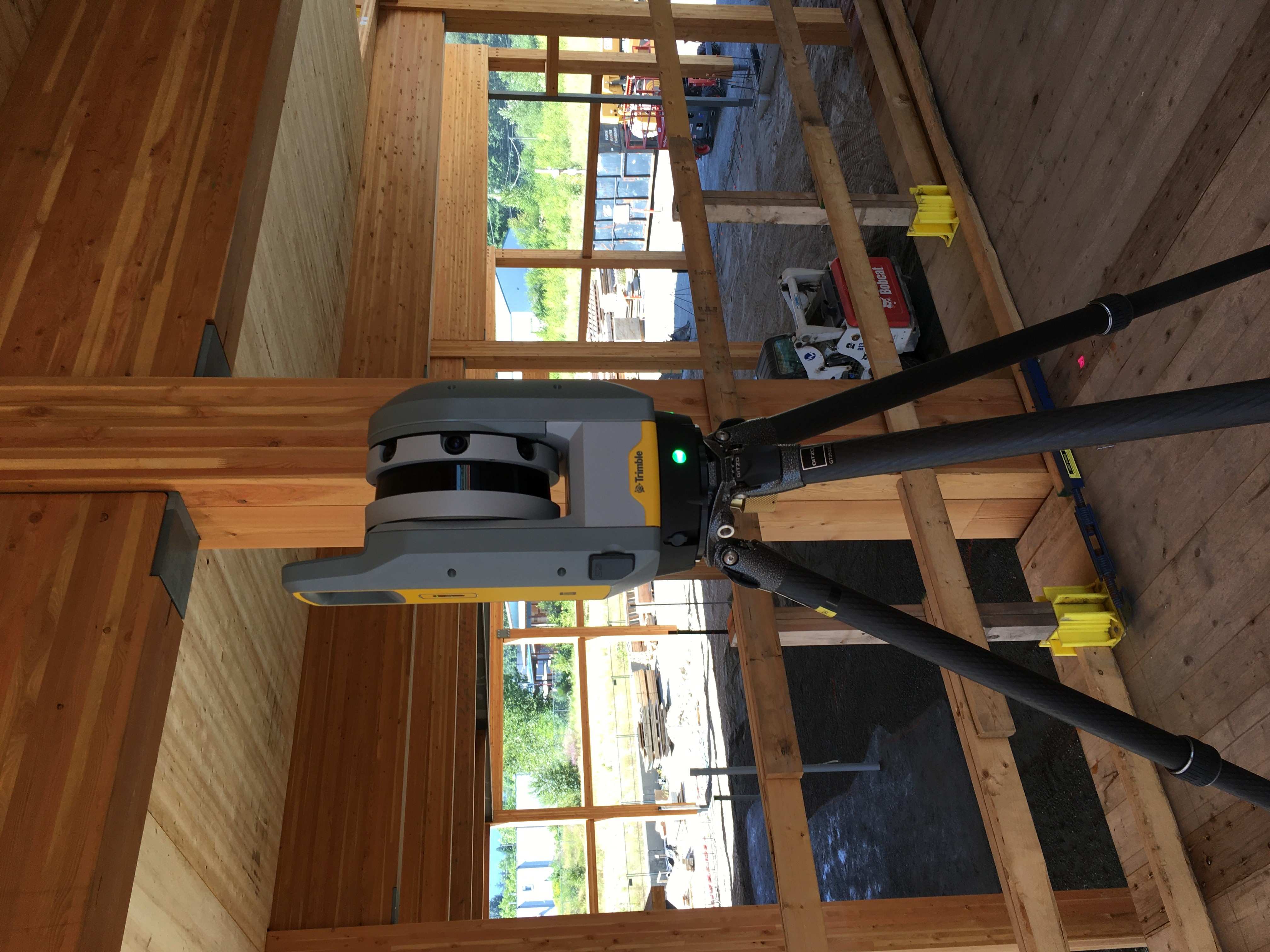 Squamish, BC: Trimble X7 used to create a deviation analysis on a mass timber development