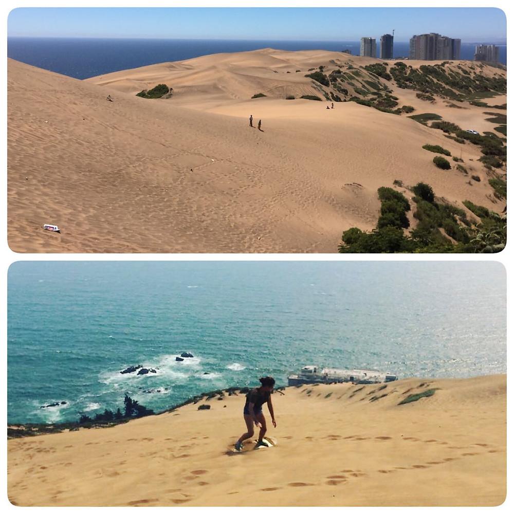 sandboarding coast tour valparaiso concon