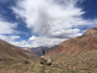 Crossing the border Chile-Argentina by bus with the most beautiful Andes view
