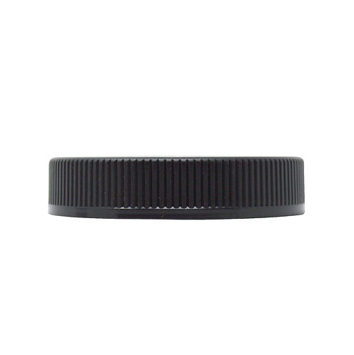Black Ribbed Child-resistant Lid without liner (for 6oz jars) (30/Pack)