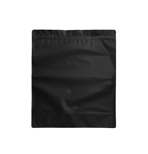 """14""""x16"""" Matte Black/Clear Standing Bags (50/pack)"""