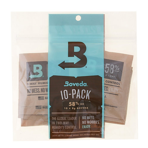 10-Pack: Boveda 4 gram 58%RH – use w/ up to 0.5 oz