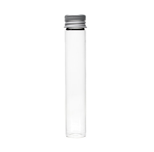 116 mm x 21mm Glass screw top J-tubes with lid (250/case)