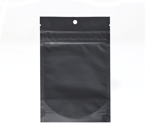 "4"" x 6"" Matte Black Child Resistant Bags (100/Pack)"