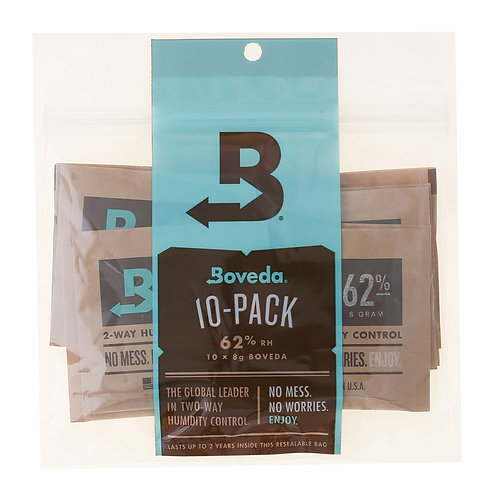 10-Pack: Boveda 8 Gram 62%RH - use w/ up to 1oz
