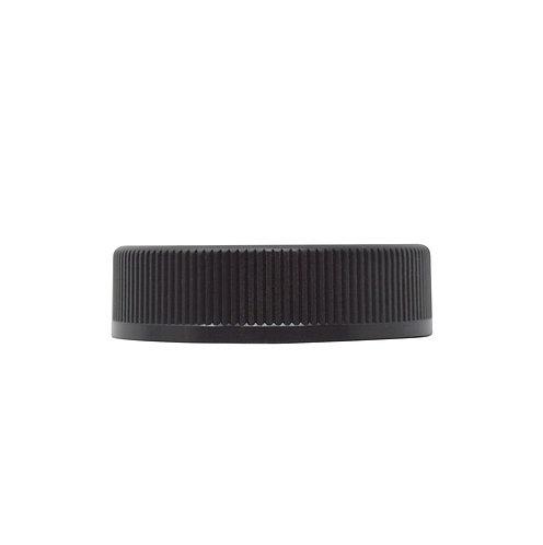 Black Ribbed Child-resistant Lid with F217-LINER (for 2oz & 3oz jars) (42/Pack)
