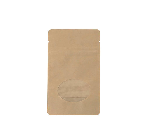 """3""""x 5"""" Kraft Standing Bags with Window (100/Pack)"""
