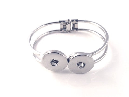 Snaps Hinged Clamp Bracelet