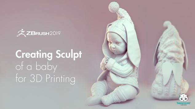 создание модели в zbrush для 3д печати