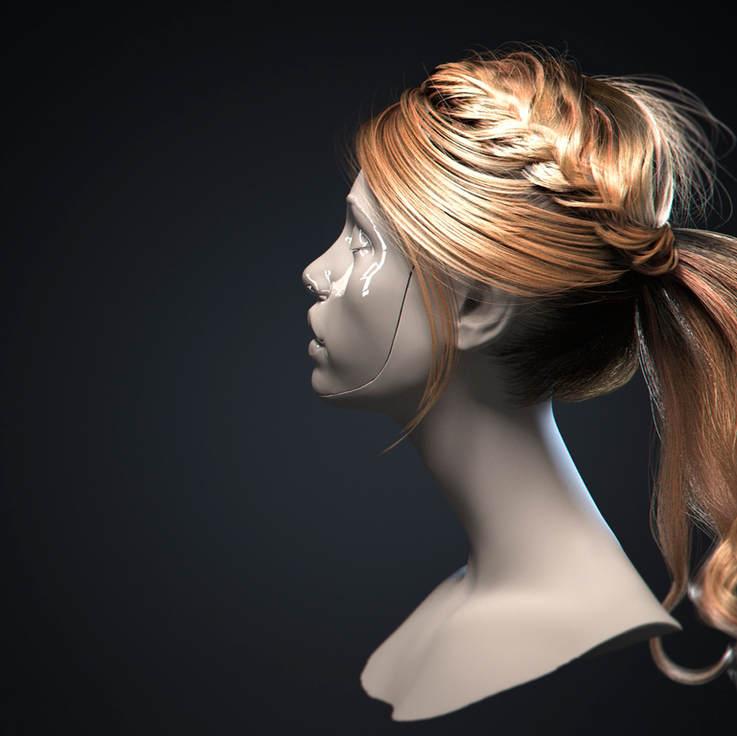 3D Realistic Hair. Tutorial.
