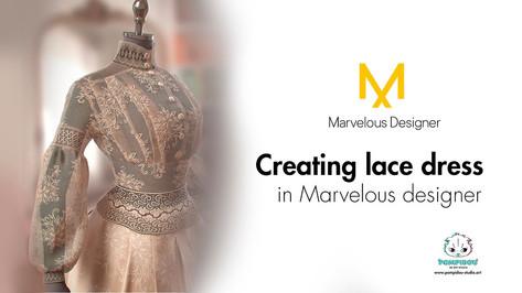 Создание кружевного платья в 3D