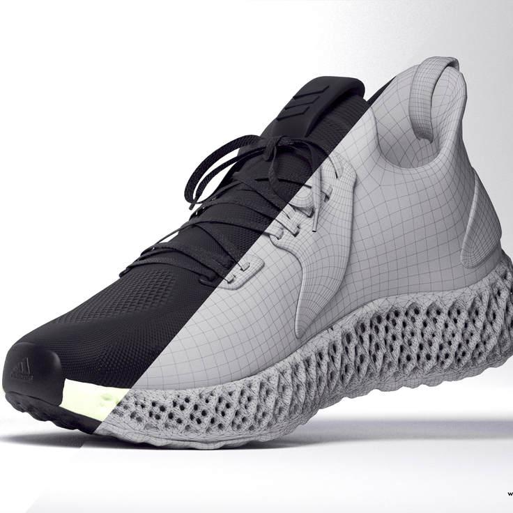 Реалистичная 3D обувь для интернет-магазина