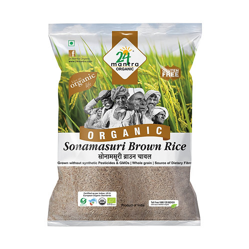 SONAMASURI RAW RICE BROWN ORGANIC