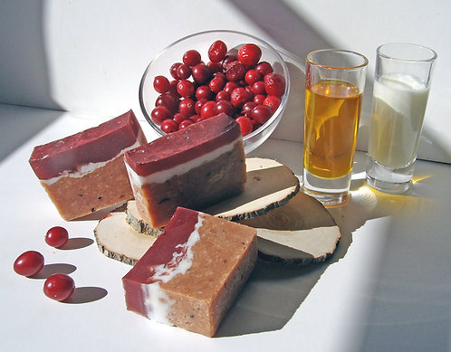 Cranberry goat milk soap