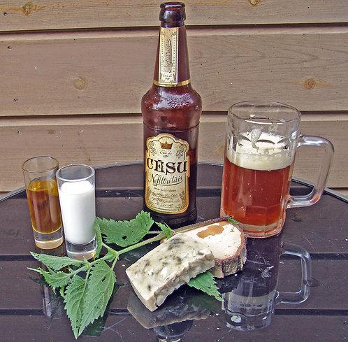 Beer soap with sage / Alus ziepes ar salviju un rozmarīnu