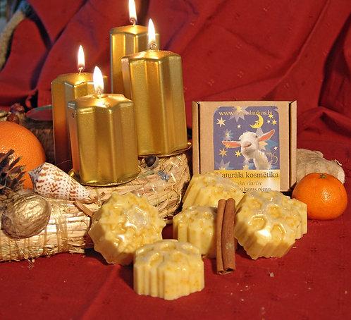 Gold snowflake soap