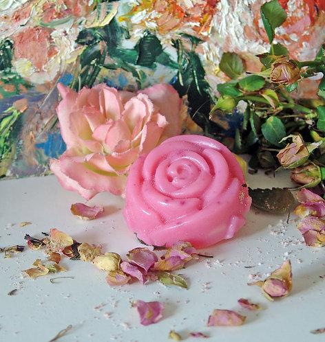 Rose goat's milk soap / Rožu kazas piena ziepes glicerīna