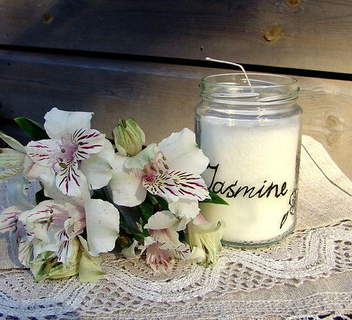 Jasmīna svece burciņā